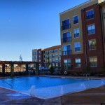 The Residences at Frisco Square Plaza & Boulevard Apartment Pool View
